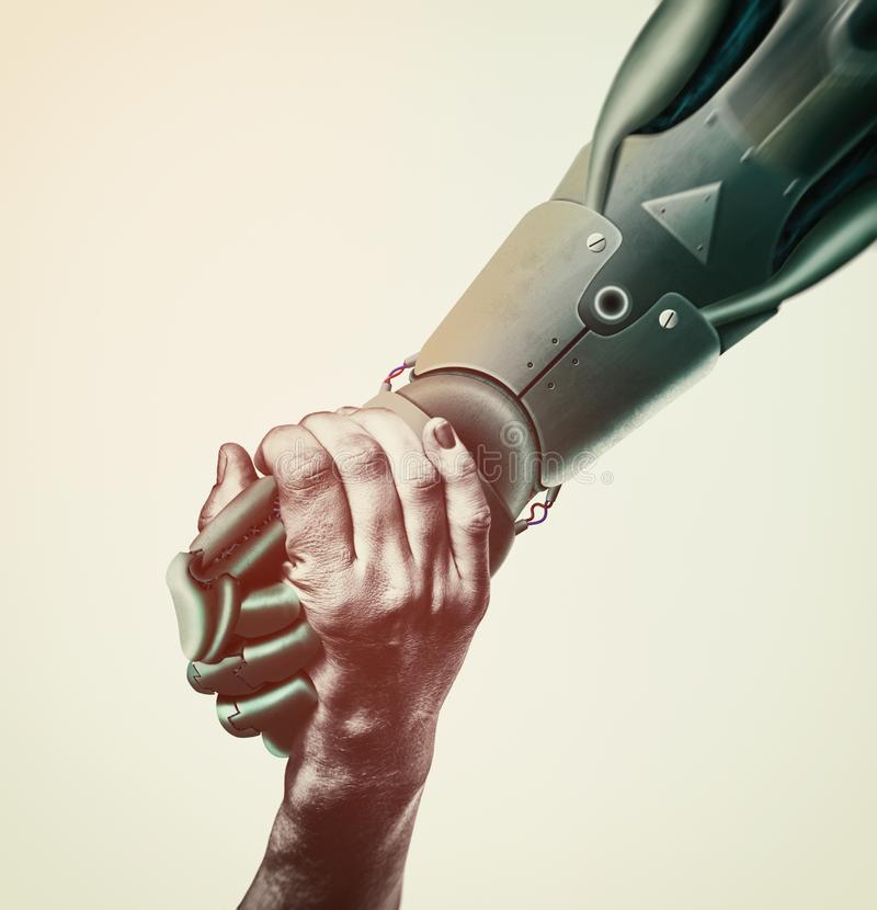 Sztuczna inteligencja, pojęcie przyszłość fotografia royalty free