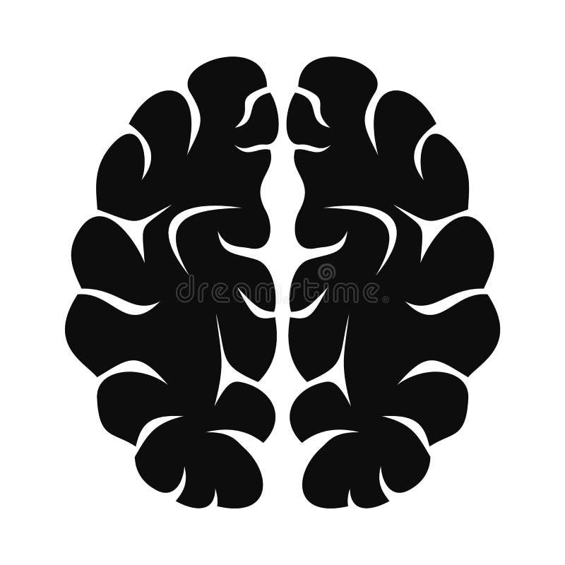Sztuczna móżdżkowa ikona, prosty styl royalty ilustracja