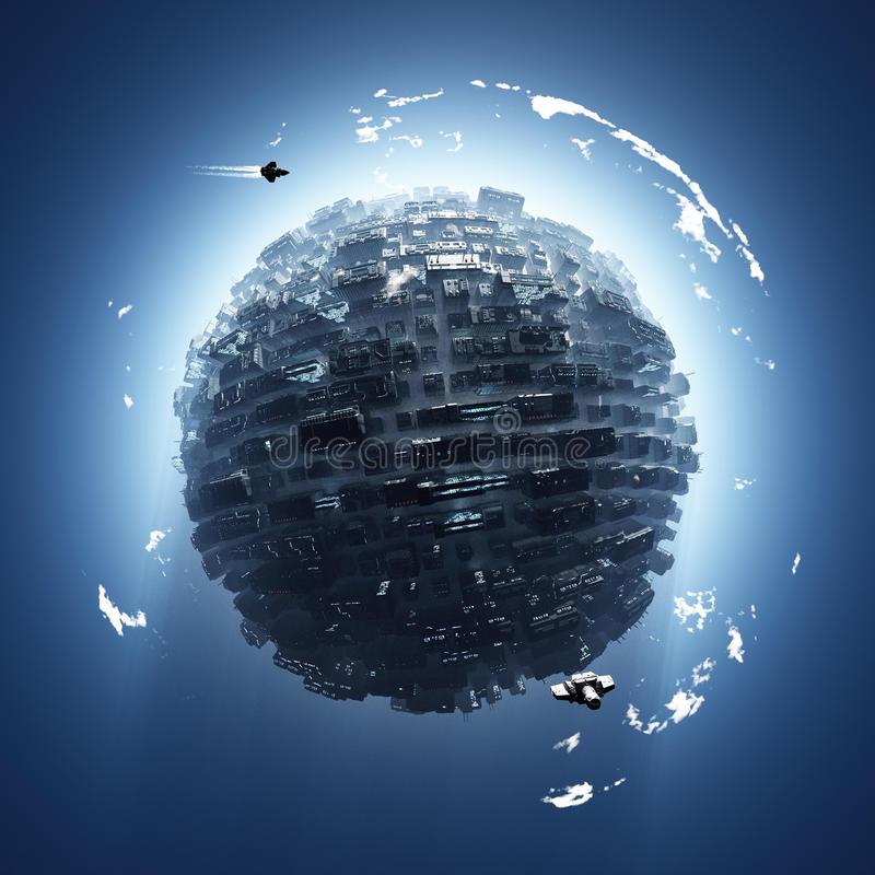 sztuczna planeta obraz royalty free