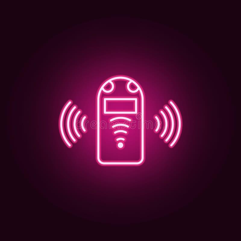 Sztuczna pomocnicza neonowa ikona Elementy Sztucznej inteligencji set Prosta ikona dla stron internetowych, sieć projekt, mobilny ilustracja wektor