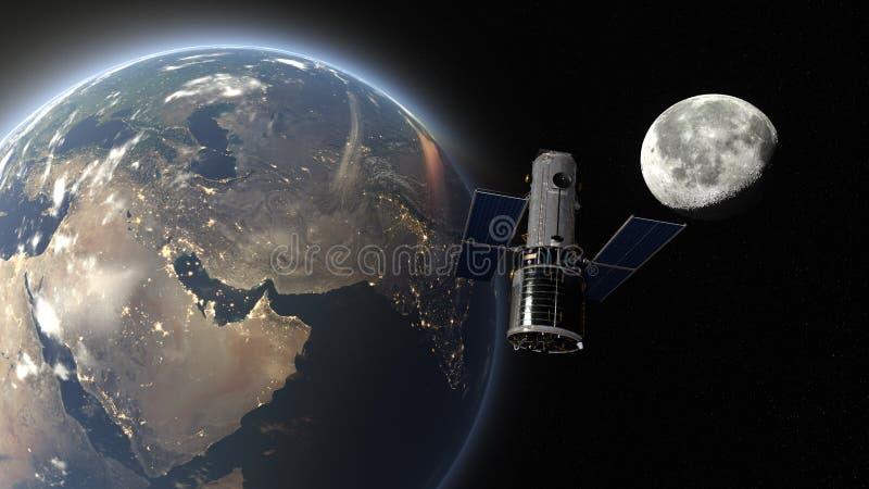 sztuczna satelita ilustracji