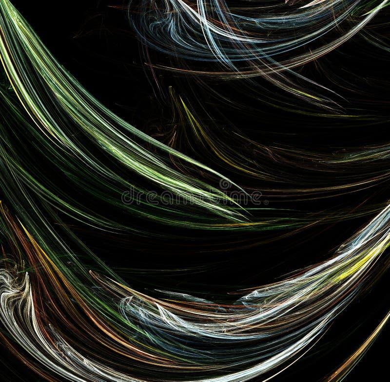sztuczne abstrakcyjne komputerowy fractal płomienia przez iteratywny ilustracja wektor