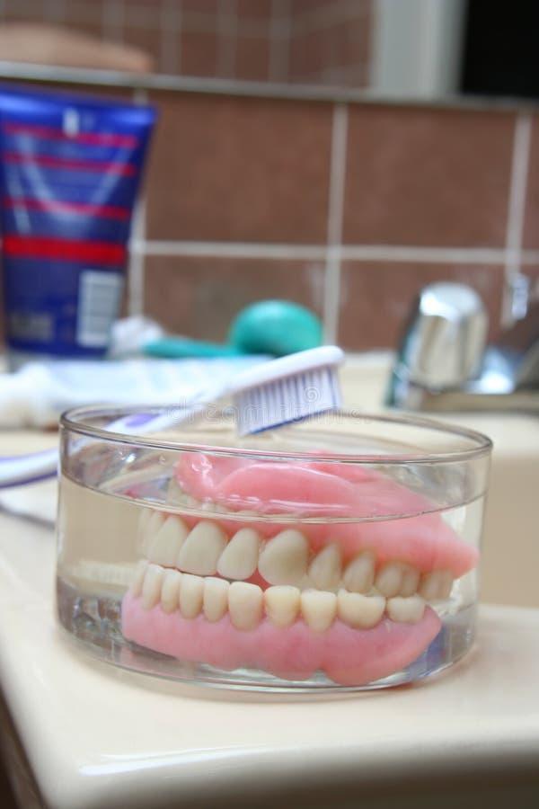 sztuczne denture zdjęcia royalty free