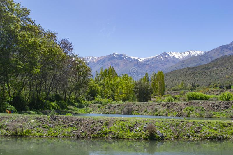 Sztuczne laguny dla łowić fotografia royalty free