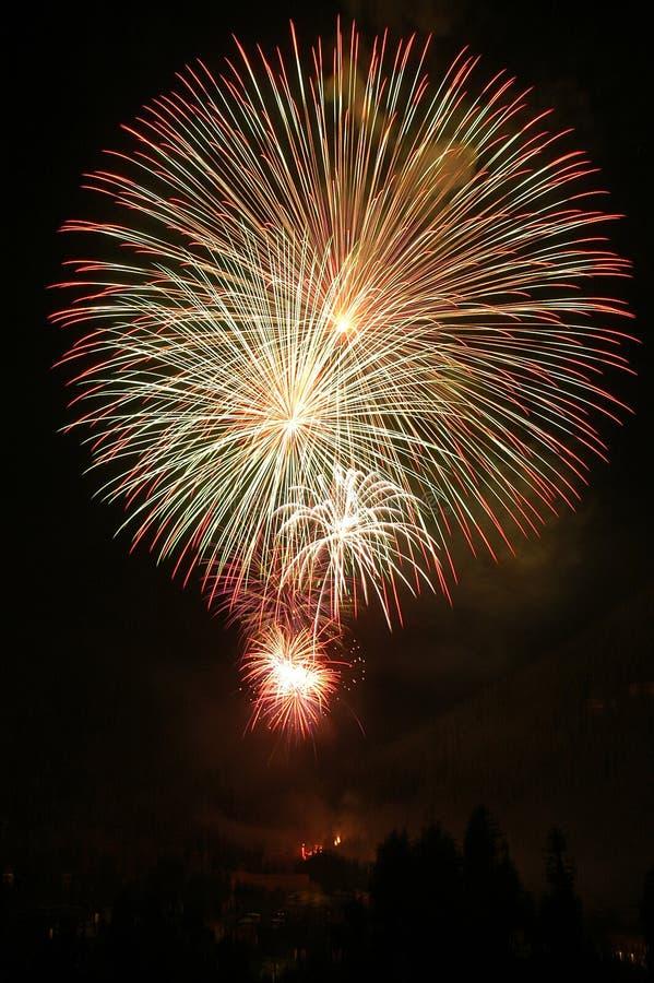 sztuczne ognie Lipowie 4. fotografia stock