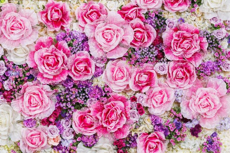 Sztucznego kwiatu tło fotografia royalty free