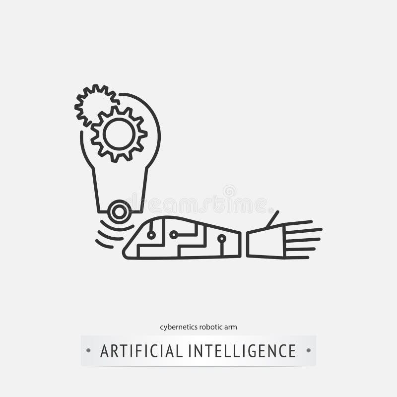 Sztucznej inteligenci ikony projekt royalty ilustracja