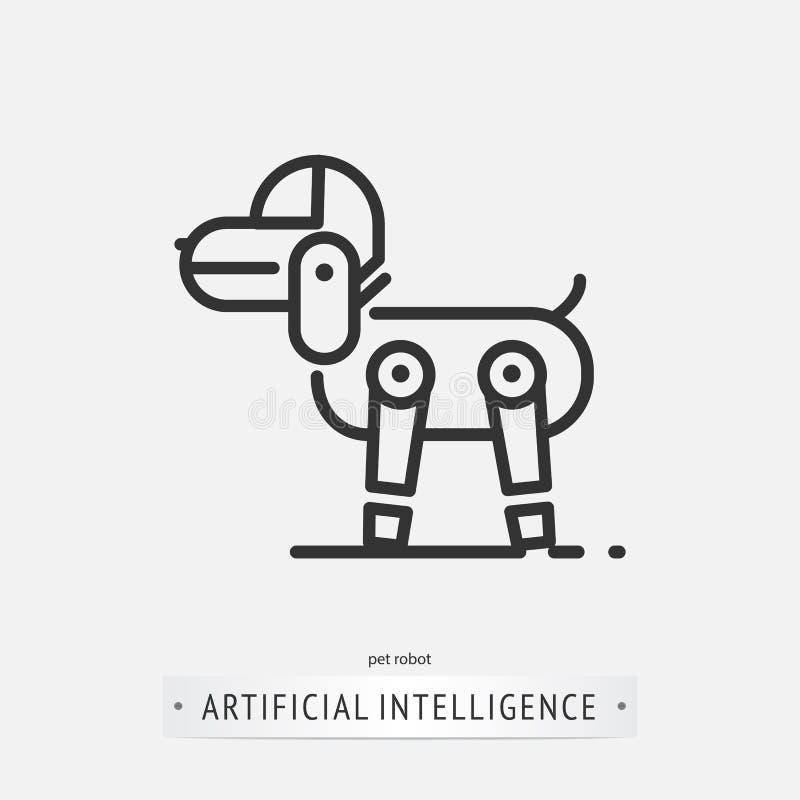 Sztucznej inteligenci ikony projekt ilustracja wektor