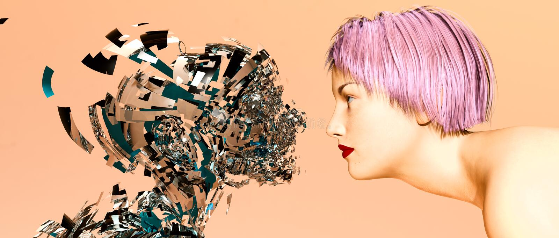sztucznej inteligenci kobieta ilustracji