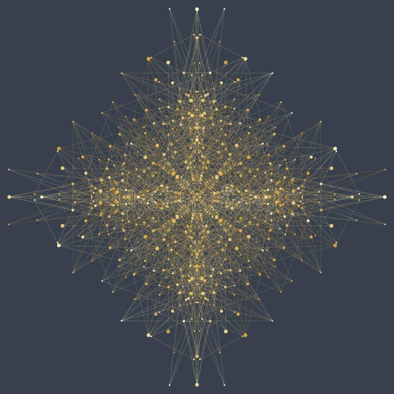 Sztucznej inteligenci logo Sztucznej inteligenci i Maszynowego uczenie pojęcie Wektorowy symbol AI Neural sieci ilustracji