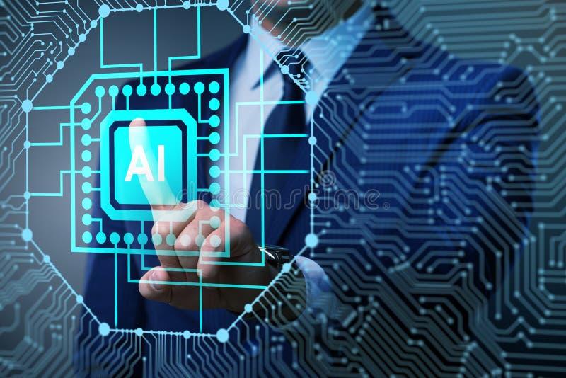 Sztucznej inteligenci nowożytny oblicza pojęcie zdjęcie stock