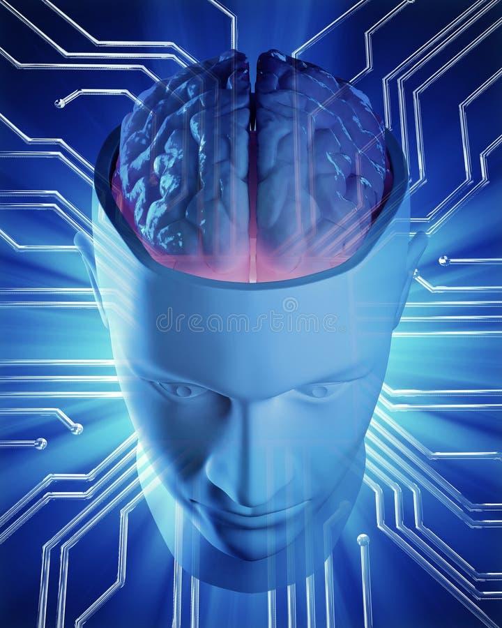 Sztucznej inteligenci pojęcia ilustracja ilustracja wektor