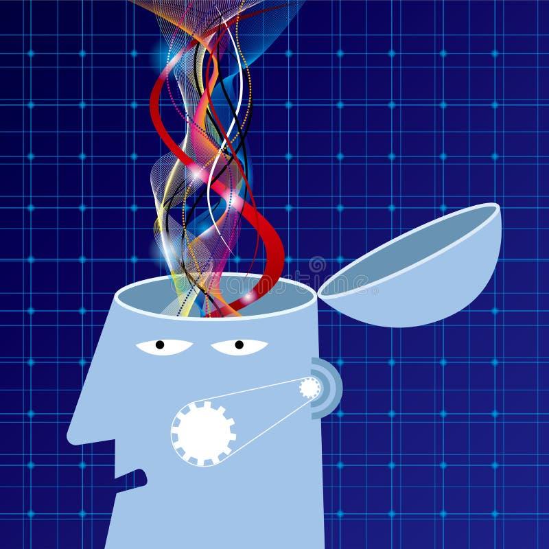 Sztucznej inteligenci pojęcia projekt, brainstorming royalty ilustracja