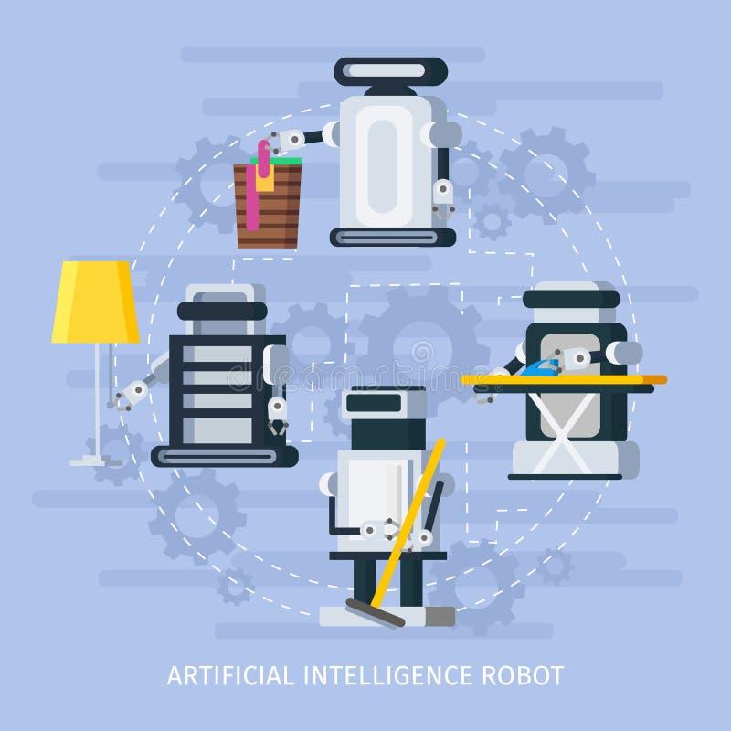 Sztucznej inteligenci skład ilustracji
