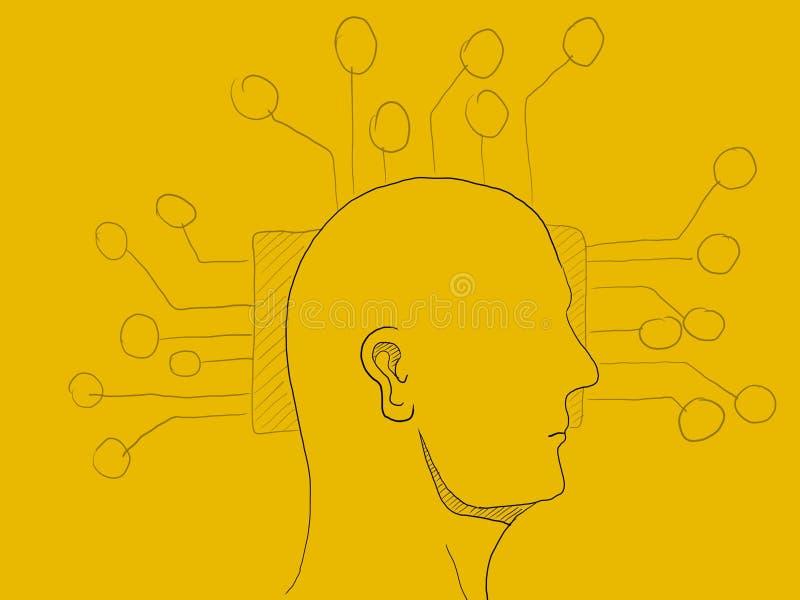 Sztucznej inteligenci technologii pojęcia ilustracja ilustracja wektor