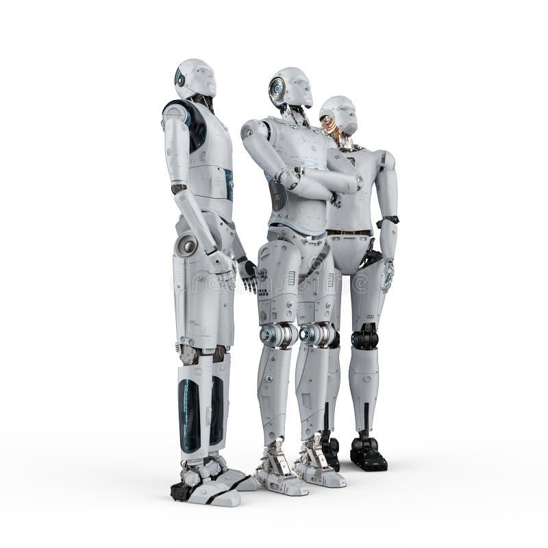 Sztucznej inteligencji praca zespo?owa ilustracja wektor