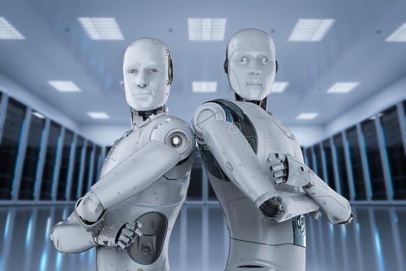 Sztucznej inteligencji praca zespo?owa royalty ilustracja