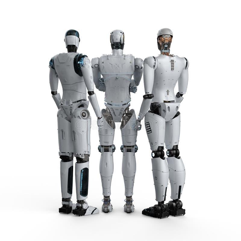 Sztucznej inteligencji praca zespo?owa ilustracji