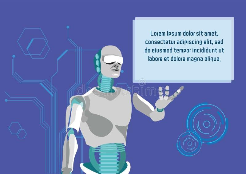 Sztucznej inteligencji Promo sztandaru Płaski szablon ilustracji