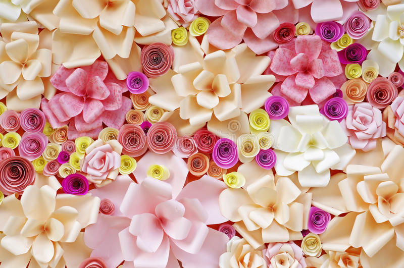 Sztuczni kwiaty robić papier zdjęcie royalty free