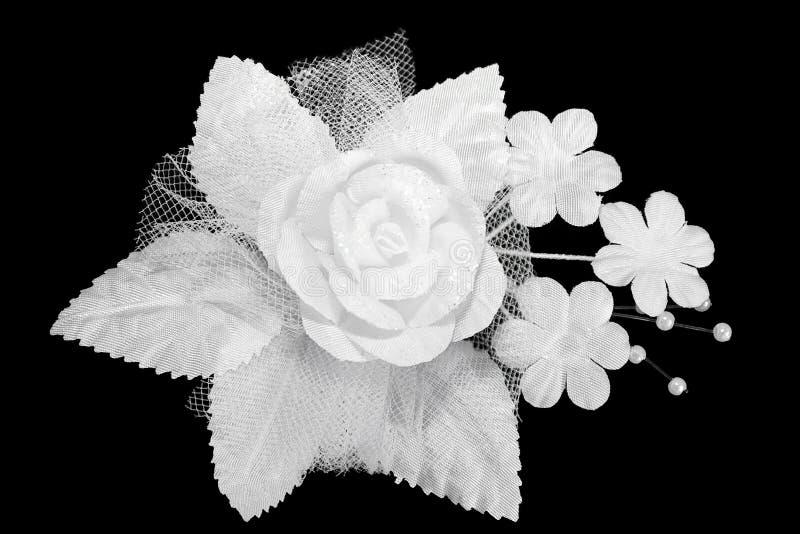 sztuczny buttonhole ślubu biel fotografia royalty free