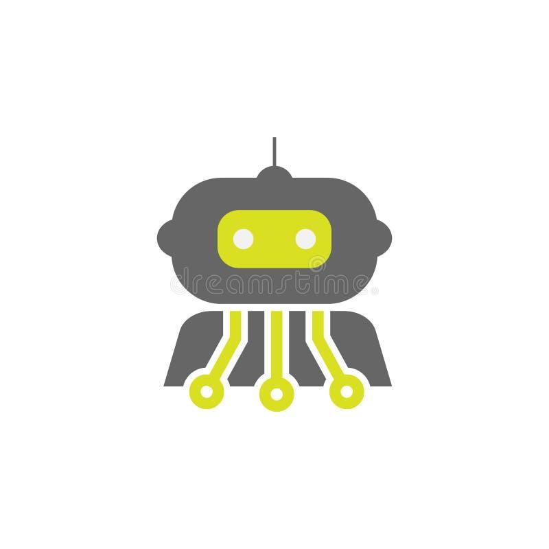 Sztuczny, cybernetyki ikona Element nauka eksperymentu ikona dla mobilnych pojęcia i sieci apps Szczegółowy Sztuczny, cybernetyka ilustracja wektor