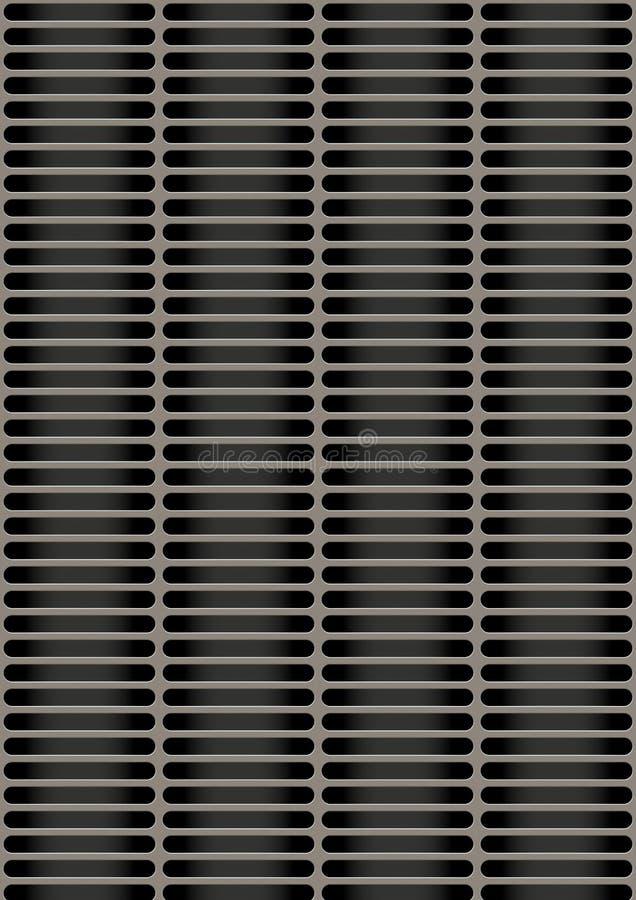 Sztuczny dziurkowaty metalu talerz zdjęcie stock