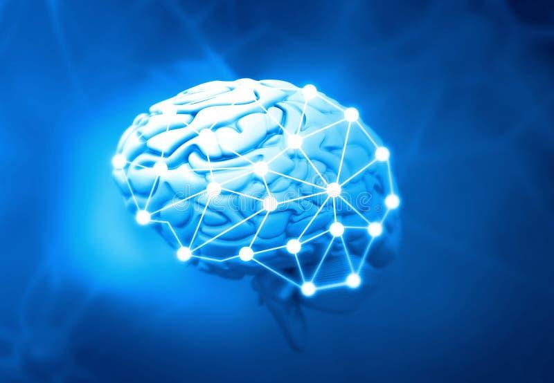 Sztuczny inteligentny mózg royalty ilustracja