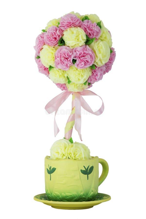 Sztuczny kwiat w garnku zdjęcie royalty free