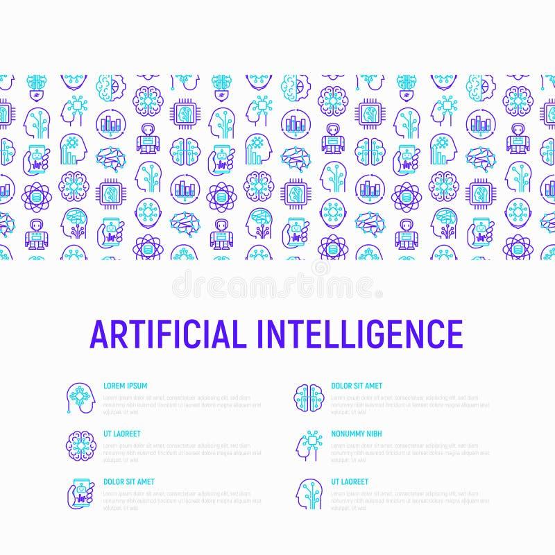sztuczny móżdżkowy obwodów pojęcia elektronicznej inteligenci mainboard ilustracji