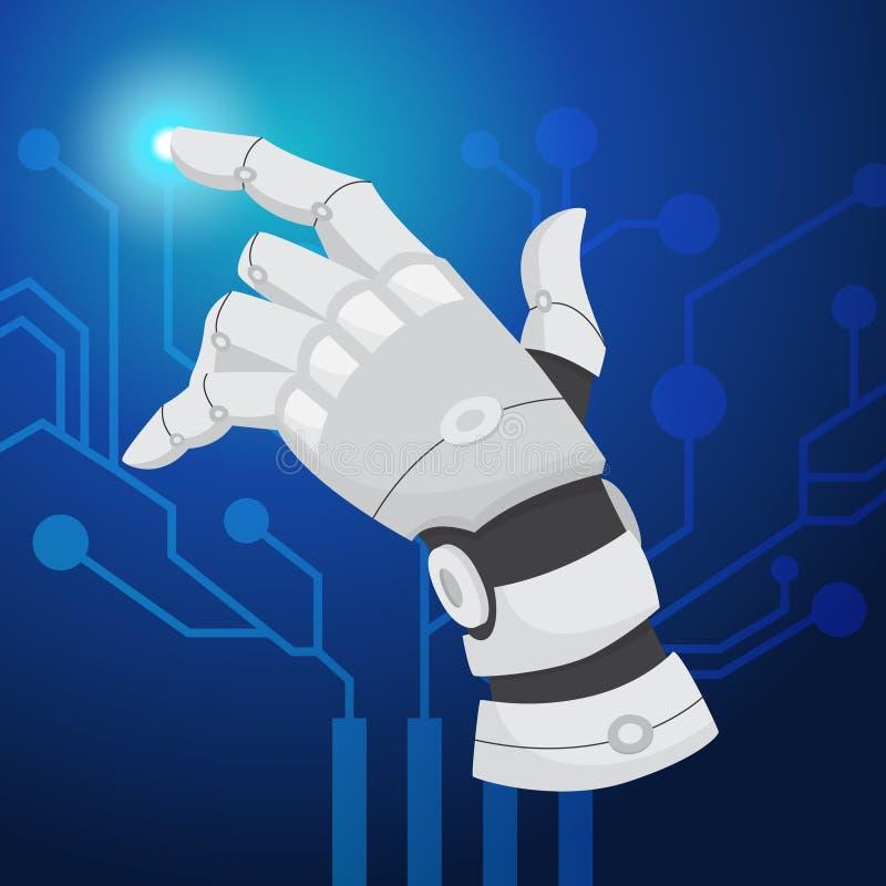 sztuczny móżdżkowy obwodów pojęcia elektronicznej inteligenci mainboard Futurystyczny technologii i robota mózg ilustracji