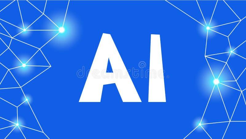 sztuczny móżdżkowy obwodów pojęcia elektronicznej inteligenci mainboard Futurystyczny technologii i robota mózg ilustracja wektor