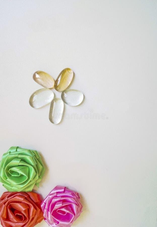 Sztucznych kwiatów pączki zdjęcie royalty free