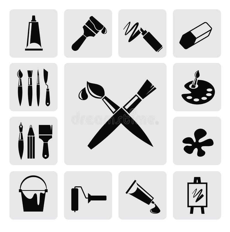 Sztuk ikony royalty ilustracja