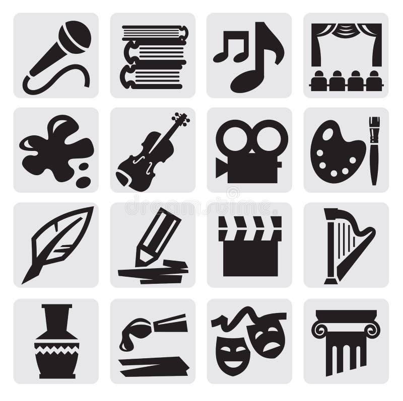 Sztuk ikony set royalty ilustracja