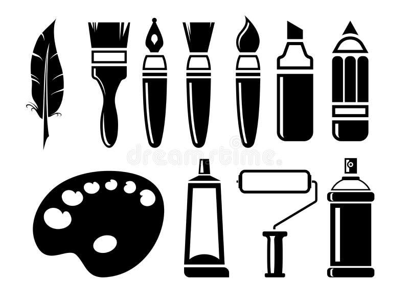 Sztuk ikony ustawiać ilustracji