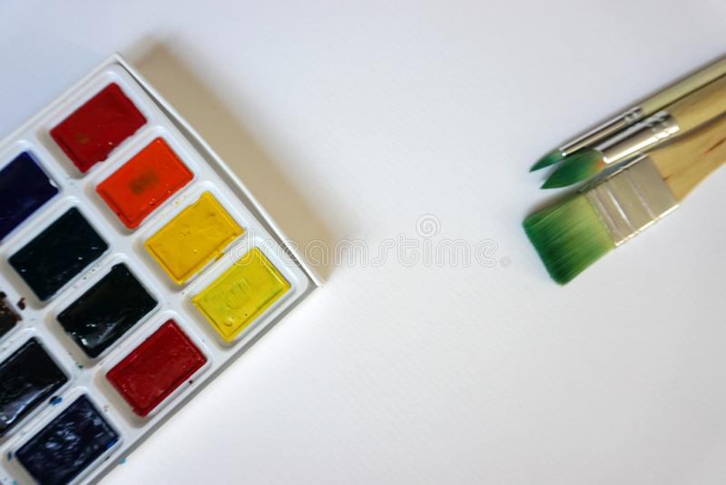 Sztuk muśnięcia Dla akwareli fotografia stock