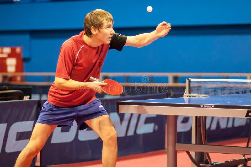 Sztuka śwista pong między mężczyzna fotografia royalty free