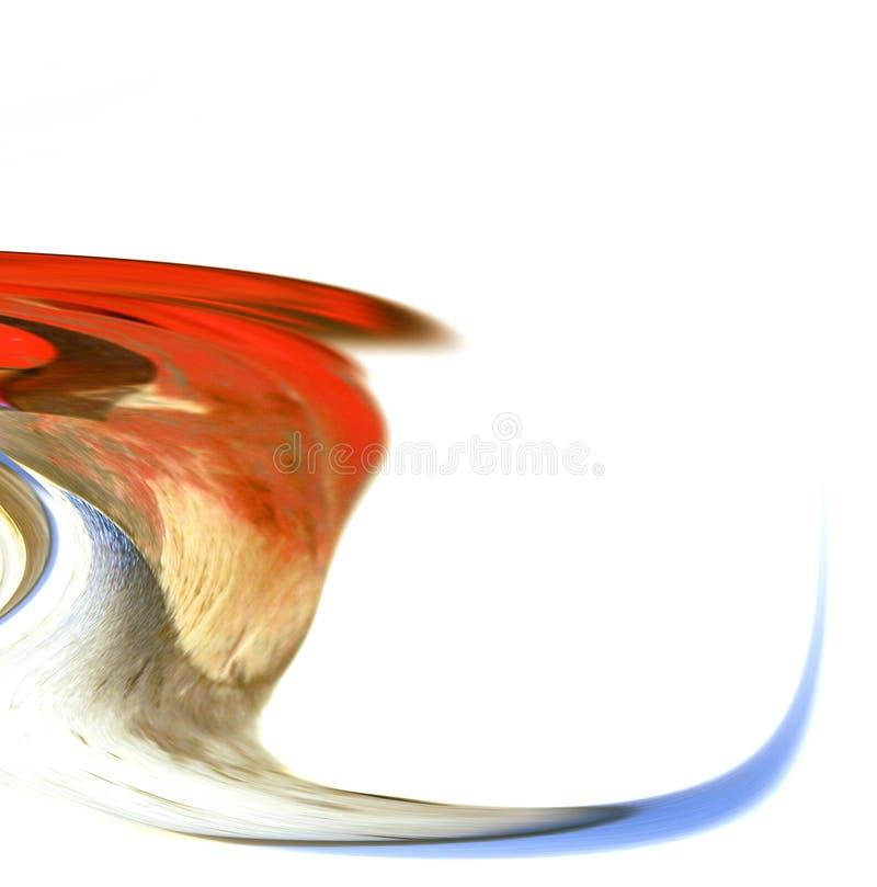 sztuka abstrakcyjna wodospad fale cyfrowa royalty ilustracja