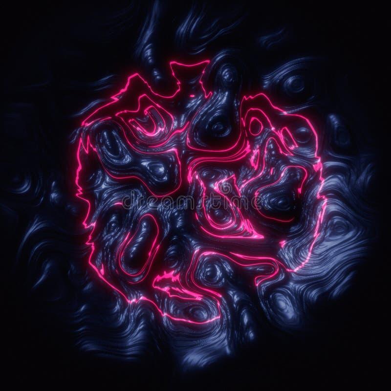 Sztuka abstrakta menchii fractal wzoru 3d rendering ilustracji