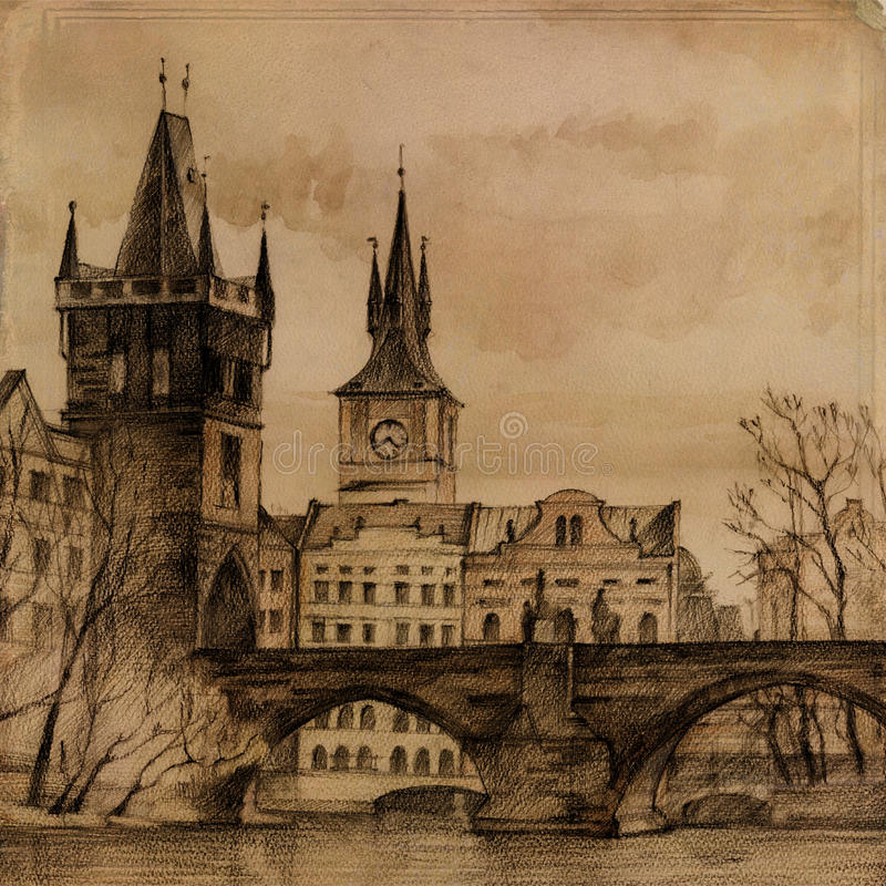 sztuka bridżowy Charles ilustracji