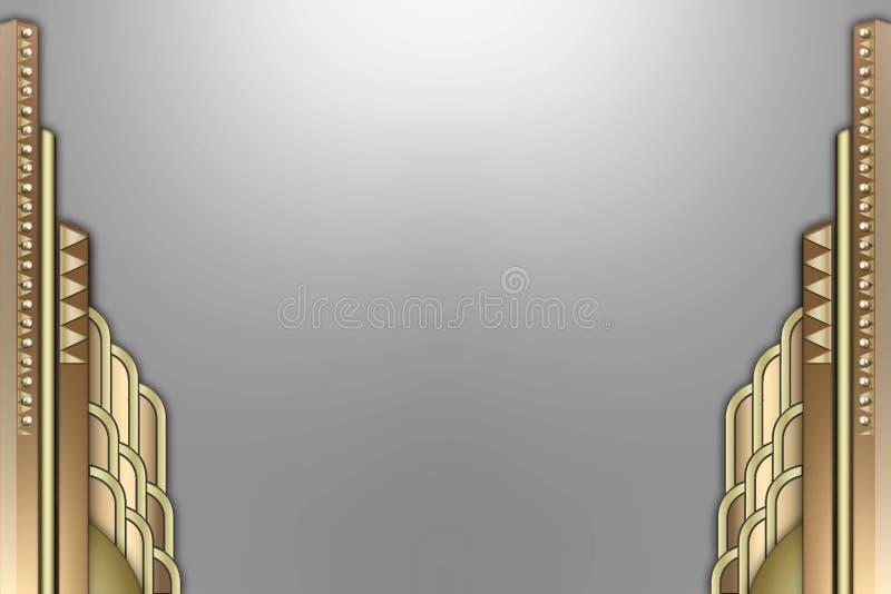 sztuka budynku deco graniczny royalty ilustracja