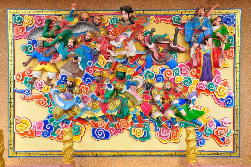 Sztuka Chińskiego stylu stiuk i obraz fotografia stock