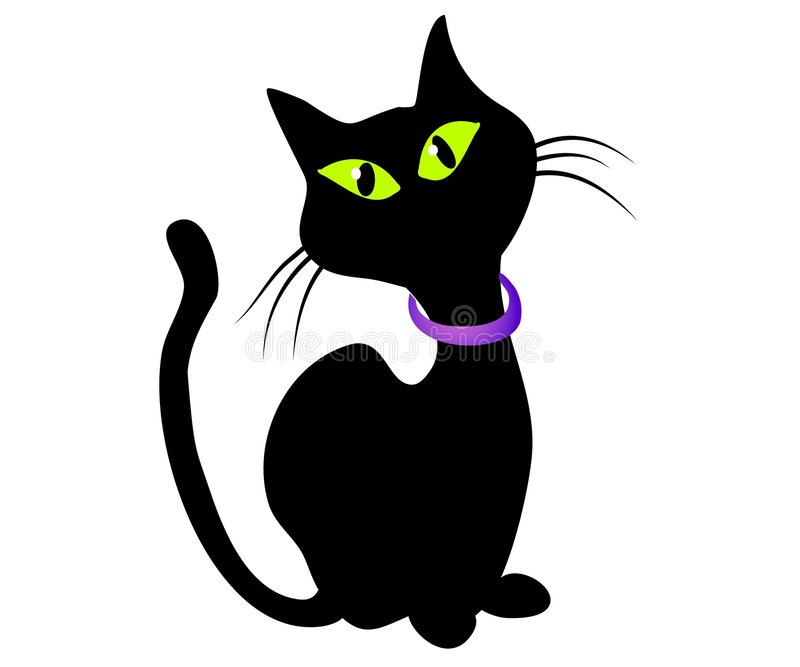 sztuka czarnego kota, clip występować samodzielnie royalty ilustracja