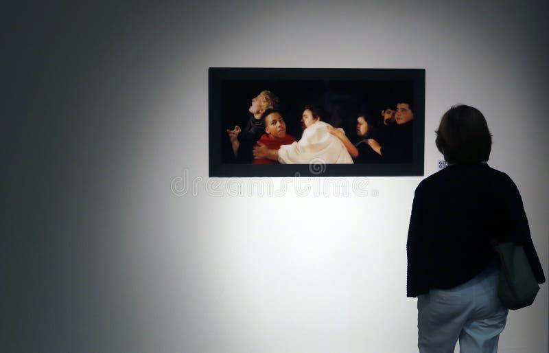 Sztuka eksponat w Mallorca podczas gnidy De Sztuka imprezy kulturalnej obraz stock
