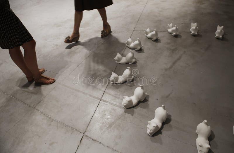 Sztuka eksponat w Mallorca podczas gnidy De Sztuka imprezy kulturalnej obrazy royalty free