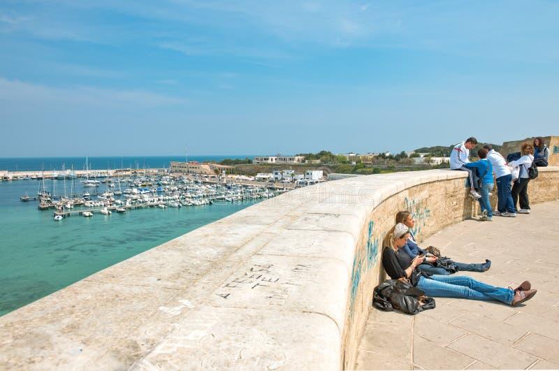 Sztuka i morze Otranto zdjęcia royalty free