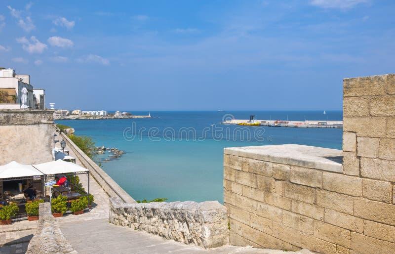 Sztuka i morze Otranto obrazy royalty free