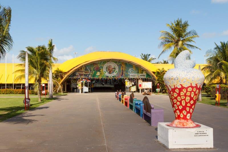 Sztuka J Inacio na plażowym Atalaia i kulturalny centrum, Aracaju, Serg obrazy royalty free