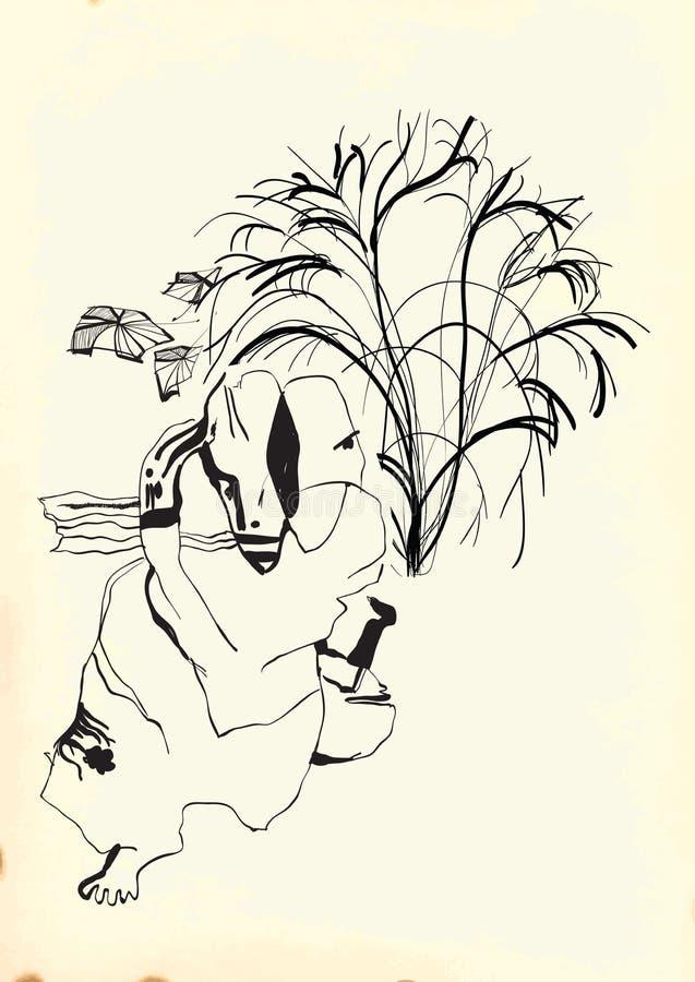 Sztuka Kreskowa sztuka - filozof royalty ilustracja